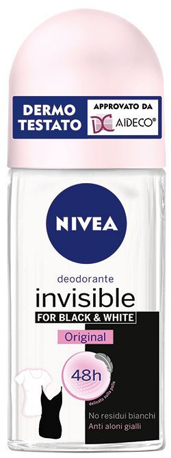 DEODORANTE NIVEA ROLL-ON BLACK WHITE 50ml DONNA