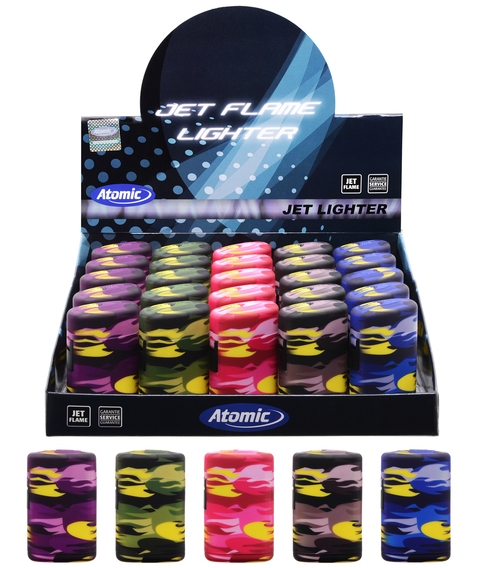 ACCENDINO ATOMIC TURBO BLUE JETFLAME 25pz CAMOUFLAGE