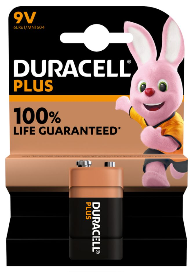 BATTERIE DURACELL MN1604 TRANSISTOR 9v 1x 1pz PLUS POWER