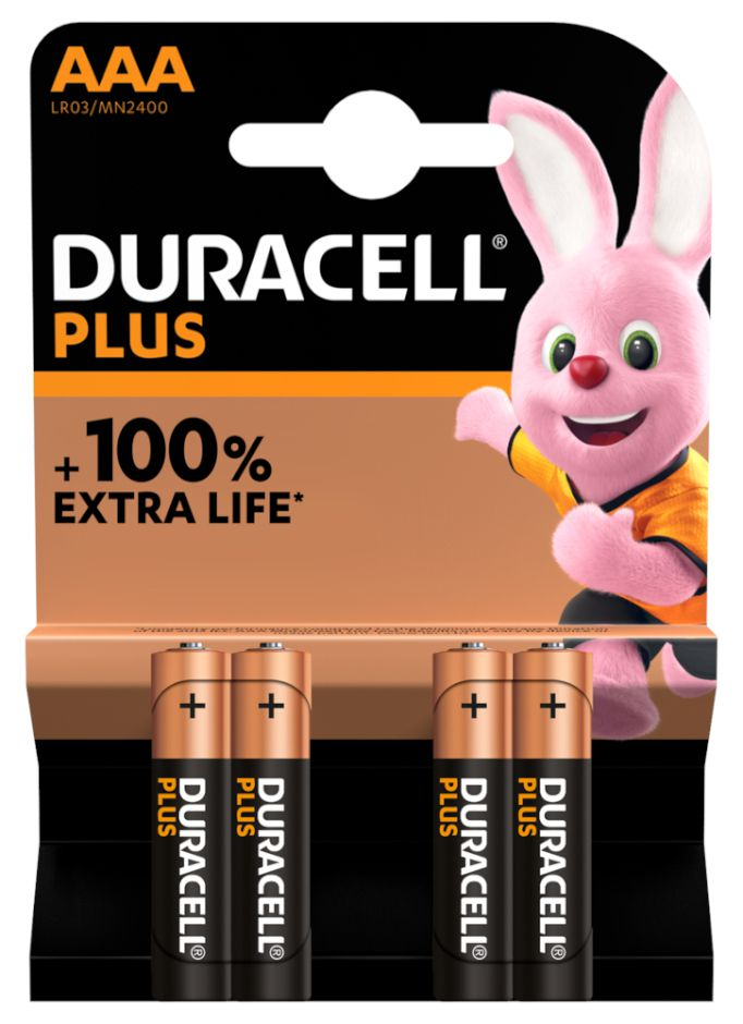 BATTERIE DURACELL MN2400 MINISTILO 1.5v 4x 1pz PLUS POWER