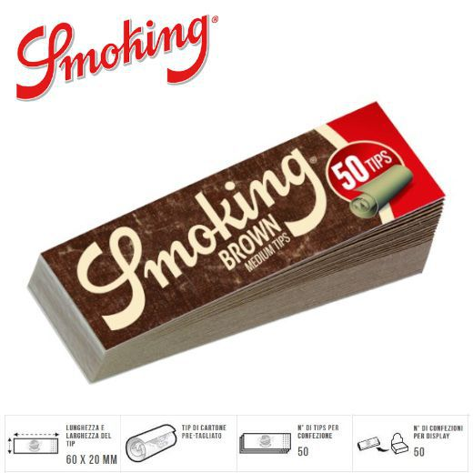 FILTRI CARTA SMOKING BROWN 50x50pz
